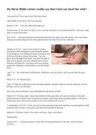bible verses god heal sick