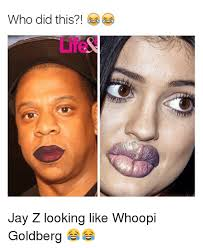 Jay Z Lips Meme - who did this jay z looking like whoopi goldberg jay meme on