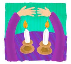 shabat candles shabbat candles clipart 35