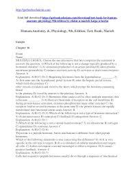 Human Anatomy And Physiology Marieb 7th Edition Test Bank For Human Anatomy Physiology 9th Edition By Elaine N Marie U2026