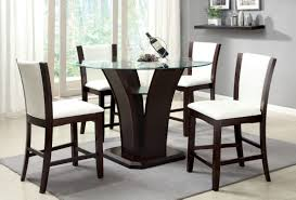 contemporary counter height table furniture of america coble 5 piece counter height dining set