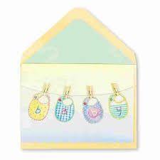 baby card baby bibs on clothesline baby shower cards papyrus