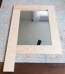 wood framed wood framed mirror tutorial
