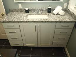 Shaker Style Bathroom Cabinet by Vanity White Shaker Doors With Granite Top Contemporary Bathroom