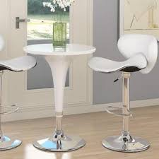 adjustable height bar table corliving adjustable height bar table in white gloss shop living
