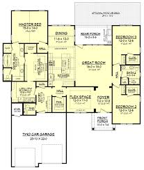craftsman style house plan 3 beds 2 50 baths 2275 sq ft plan
