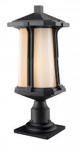 outdoor pier mount lights 1 light outdoor pier mount light 542phb 533pm bk living lighting