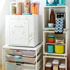 Cabinet For Mini Refrigerator White Elfa Mesh Compact Fridge Cart The Container Store