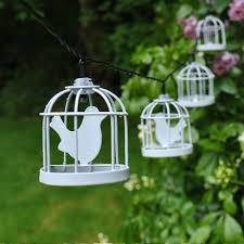 led lantern string lights diy led solar white metal bird cage lantern string fairy light