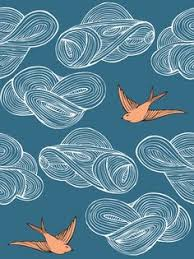love this daydream wallpaper by julia rothman for the apartment