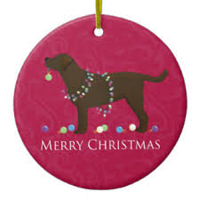 chocolate lab ornaments keepsake ornaments zazzle