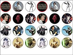 wars edible image 24 wars edible wafer paper cup cake toppers starwars