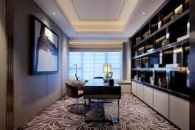 A Luxury Home Office With Oak Design Modern Home Designs Ultimate - Luxury home office design