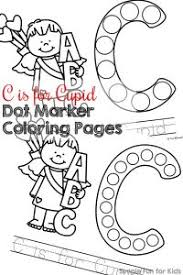 dot marker coloring pages for learning the alphabet simple fun