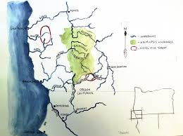Gold Beach Oregon Map by Wild Rivers Campaign Native Fish Society