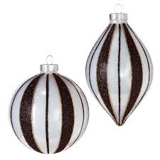 black and white glass ornaments raz imports