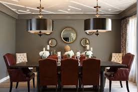 Interesting Red And Grey Dining Room  For Dining Room Chairs - Grey dining room