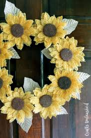 sunflower wreath diy step by step tutorial consumer crafts