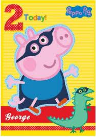 peppa pig birthday george peppa pig age 2 card dinosaur design
