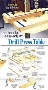 diy woodworking drill press table plans drill press table drill