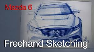 freehand sketch of the mazda 6 prismacolor pencil youtube