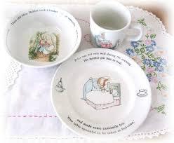 wedgwood rabbit nursery set vintage wedgwood rabbit nursery set of 3 beatrix potter