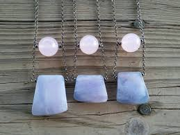 blue jade necklace images Rose quartz blue jade necklace heysomeday handmade jewelry jpg