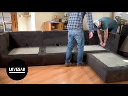 self assembly sofas for small spaces lovesac modular furniture assembly tips tricks review youtube