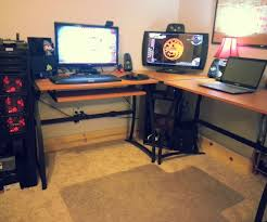 genial peru plus wooden l shaped desk along with black handle