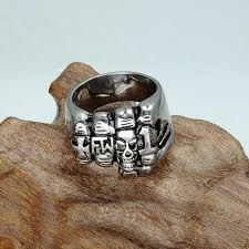 unique metal rings images Gothic fist finger stainless steel unique skull rings skull obsessed jpg