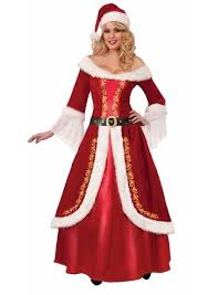 christmas costume santa mrs claus deluxe woman christmas costume 125 99