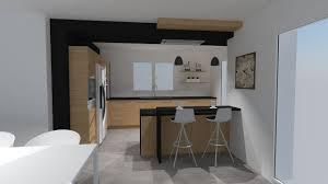 cuisine blanche avec plan de travail noir cuisine blanche plan de travail bois finest cuisine blanche plan
