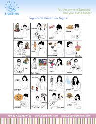 signshine baby sign language halloween signs
