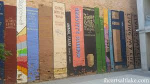 i heart salt lake wall of books mural in salt lake city this wall of books is no exception hidden down a small alley by a parking garage is this cool mural stop by and check it out next time you are downtown