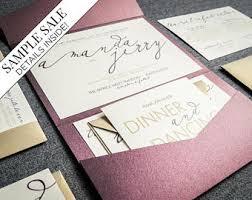 custom invitations unique wedding invitations etsy wedding invitation design