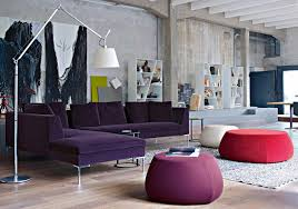 Purple Table L Purple L Shaped Sofa Interior Design Ideas