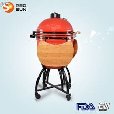 red sun balcony bbq grill outdoor charcoal grill ceramic smoker