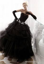 25 stylish and dramatic black wedding dresses weddingomania