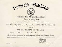 honorable discharge certificate item detail thurman munson s honorable discharge archive from