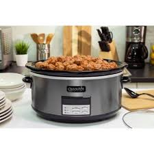 Bed Bath And Beyond Fayetteville Ar Crock Pot 8 Qt Programmable Slow Cooker In Black Stainless Bed