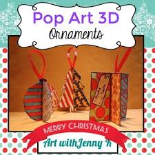 pop 3d ornaments a unique activity tpt