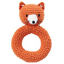 fox animal knit rattle the land of nod