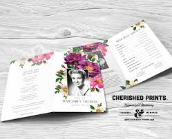 Funeral Program Printing Services Spring Flowers Funeral Program Celebration Of Life Program Order