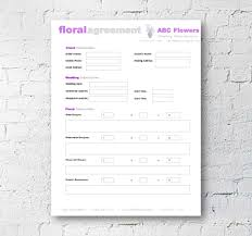 Contract Templates Free Word Templates Floral Shop Bridal Agreement Contract Template Editable