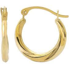 14kt gold earrings 14kt yellow gold hoop earrings walmart