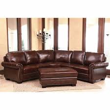 venezia leather sectional and ottoman isabelle top grain leather sectional and ottoman living room set