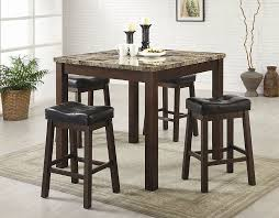 Sofie  Piece Marble Look Counter Height Dining Set Counter - Counter height dining table crate and barrel