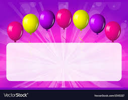 Card with shiny balloons Royalty Free Vector Image