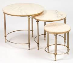 marble top nesting tables french neoclassic set of three onyx top bronze nesting tables at 1stdibs