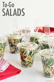 Backyard Bbq Party Menu The Chic Site This Would Be A Fun Way To Serve Salads At A